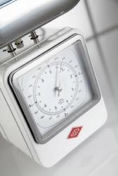 Waga kuchenna retro z zegarem biała wesco 322204-01