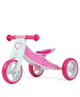 Milly mally jake hearts drewniany rowerek biegowy 2w1 + prezent 3d