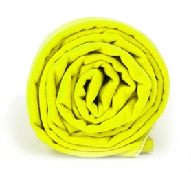 Ręcznik szybkoschnący z powłoką antybakteryjną dr.bacty 60x130 - neon żółty - żółty