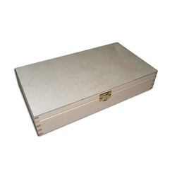 Drewniane pudełko z zapięciem 34x25x10,5 cm