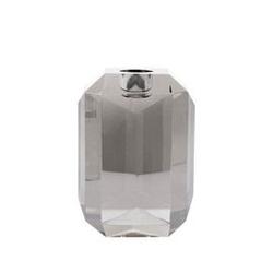Hk living :: świecznik ze szkła kryształowego grey