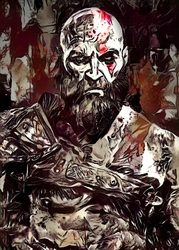 Legends of Bedlam - Kratos, God of War - plakat Wymiar do wyboru: 29,7x42 cm