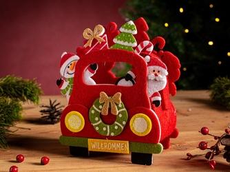 Opakowanie świąteczne na prezent  torba filcowa  torebka prezentowa altom design auto