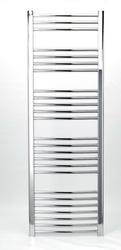 Grzejnik łazienkowy wetherby - elektryczny, wykończenie zaokrąglone, 600x1500, chromowany