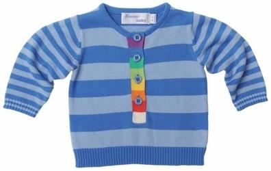 Tęczowy sweter niebieski rainbow sweater blue