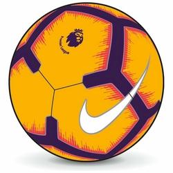 NIKE Piłka Nożna Premier League Strike SC3597-845 - Pomarańczowy || Fioletowy