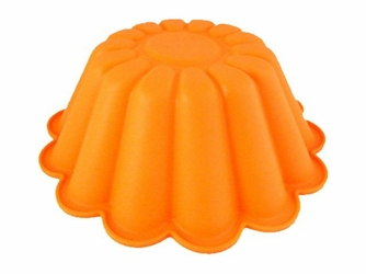 Silikonowa forma do pieczenia ciasta babka - Pomarańczowa