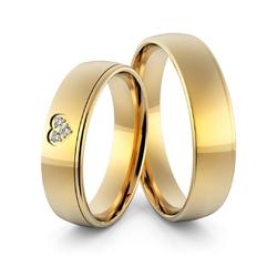 Obrączki ślubne sercem i brylantami - au-968