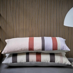 HK Living :: Lniana poduszka w paski D 70x35 - wielokolorowy