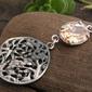 Lanzi - srebrny wisiorek z topazem złocistym