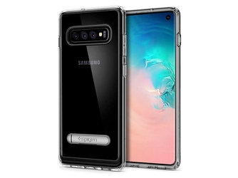 Etui spigen ultra hybrid s do samsung galaxy s10 crystal clear +folia neo flex