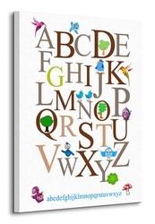 Alfabet ii - obraz na płótnie