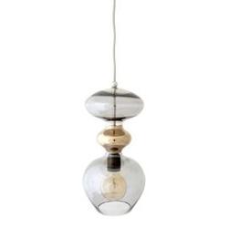 Ebb  flow :: lampa wisząca futura ø18cm szara przydymiona