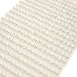 Perełki samoprzylepne 4mm 567 szt. - białe - biały