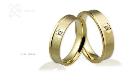 Obrączki ślubne - wzór au-592