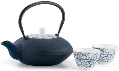 Czarki porcelanowe do herbaty granatowe yantai bredemeijer - 2 sztuki g022bp