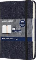 Notes moleskine p denim w linię prussian blue