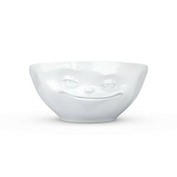 58products - miseczka - uśmiechnięta buźka - biała błyszcząca - 350 ml