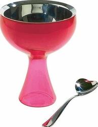 Puchar na lody z łyżeczką Big Love różowy
