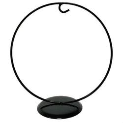Metalowy stojak na bombkę czarny 17 cm