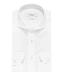 Elegancka biała koszula męska profuomo slim fit z egipskiej bawełny giza 41