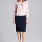 Kopertowa różowa bluzka z gumka na dole
