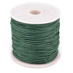 Woskowany sznurek bawełniany 1mm20m - zielony - ZIEL