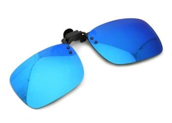 Nakładki polaryzacyjne lustrzane na okulary korekcyjne - niebieskie - na-165