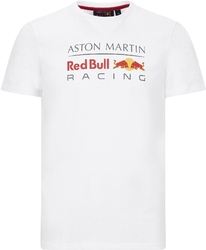 Koszulka red bull racing f1 logo biała - biały