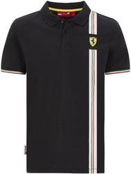 Koszulka polo scuderia ferrari f1 italian flag czarna - czarny