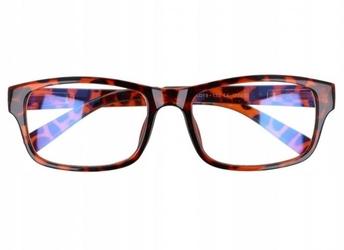 Prostokątne ala nerdy zerówki z antyrefleksem okulary st1202a