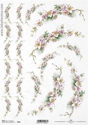 Papier ryżowy itd a4 r681 kwiatki na gałązkach