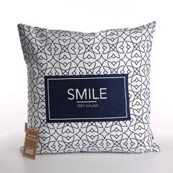 Poszewka na poduszkę dekoracyjna altom design hampton smile 40 x 40 cm