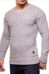 Męski sweter crsm - szary 9516-3