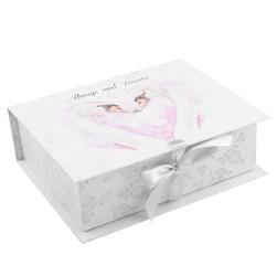 Pudełko szkatułka z łabędziami na ślub, rocznicę dedykacja