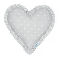 Dekoracyjna poduszka w kształcie serca lovely dots