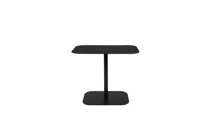 Zuiver :: stolik metalowy snow czarny prostokątny szer. 50 cm