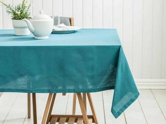Obrus na stół altom design bawełniany morski  zielono-niebieski 160 x 240 cm