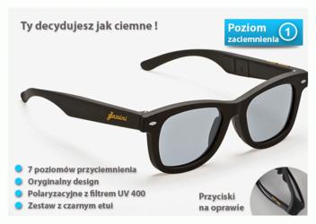 Okulary Glassini Bali - lcd ze zmianą poziomu zaciemnienia black