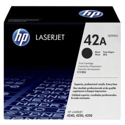 Hp 42a oryginalny wkład z czarnym tonerem laserjet