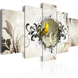 Obraz - żółty ptak