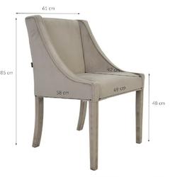 Krzesło do jadalni mitos z podłokietnikiem klasyczne