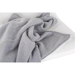Effiki duży wełniany koc ocieplany szary z białym polarem 75x110 cm