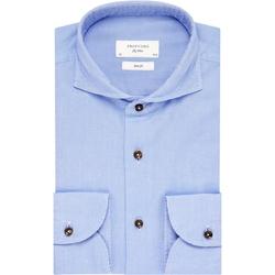 Niebieska koszula profuomo sky blue z kołnierzem z jednego kawałka tkaniny 41