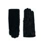 Rękawiczki kudłate czarne - CZARNE