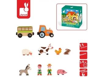 Farma drewniane figurki 10 el. story
