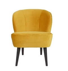 Woood :: Fotel SARA musztardowy - żółty