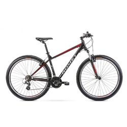 Rower górski romet rambler r9.0 2021, kolor czarny-czerwony, rozmiar 21