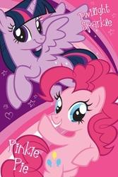 My little pony twilight sparkle i pinkie pie - plakat
