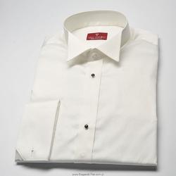 Elegancka śmietankowa ecru koszula smokingowa z łamanym kołnierzykiem - NORMAL FIT 49